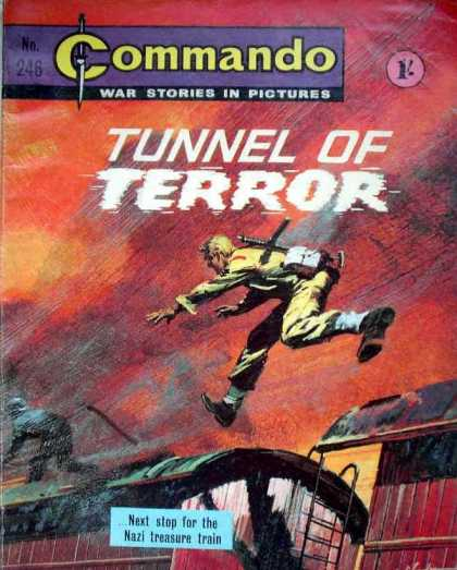 Commando 246 - Commando - The Train - Nazi Treasure - Fighter - Tunnel Of Terror
