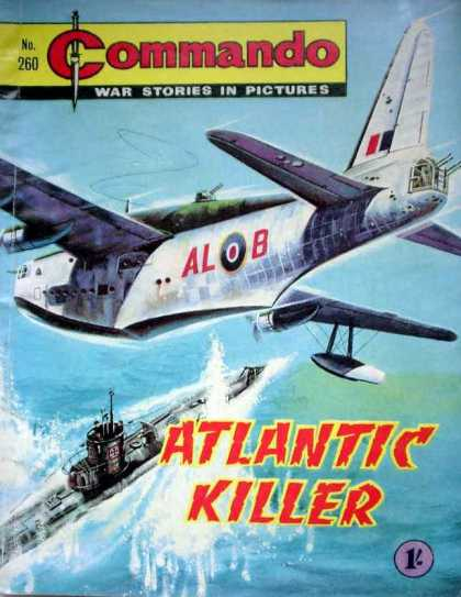 Commando 260 - Atlantic Killer - Submarine - Airplane - War - Ocean Battle