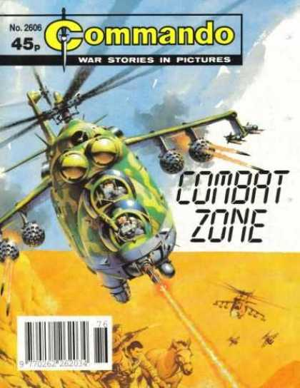 Commando 2606 - Combat Zone - Fire - Helicopter - Aircraft - War Stories In Pictures
