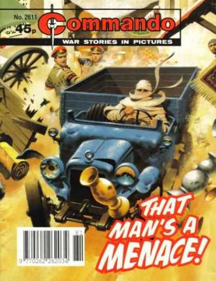 Commando 2611 - Car - Driver - That Mans A Menace - War Stories In Pictures - Steering Wheel