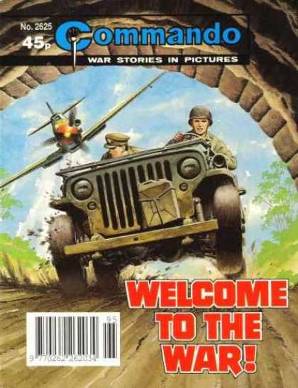 Commando 2625 - Soldiers In A Jeep - Jeep Running From A Plane - Jeep Driving Through Tunnel - Two Soldiers Driving In A Jeep - Army Jeep