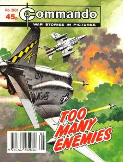 Commando 2631 - War - Dog Fight - Jet Fighters - Enemies - Missiles