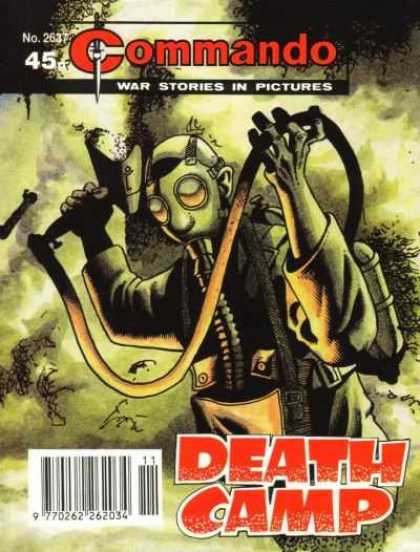 Commando 2637 - War Stories In Pictures - Death Camp - Gas Mask - No 2637 - Gloves