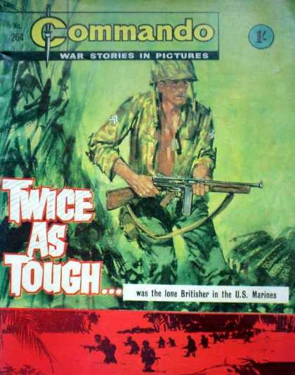 Commando 264 - War - War Stories In Pictures - 1c - Twice As Tough - Marines