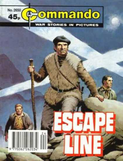 Commando 2650 - Escape Line - Rocks - Search Lights - Moon - Mountain