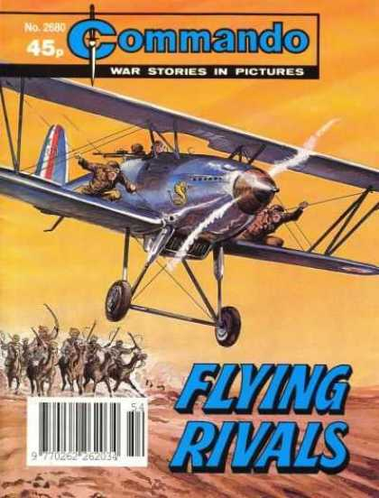Commando 2680 - Plane - Camels - Arabians - Men On Wings - Cobra On Plane