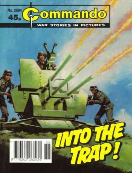 Commando 2684 - Tank - Soldiers - Gunfire - Into The Trap - War Stories In Pictures