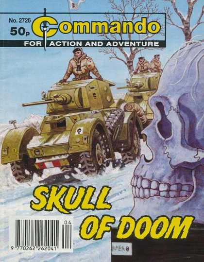Commando 2726 - For Action And Adventure - Skull Of Doom - Tank - Soldier - Dagger