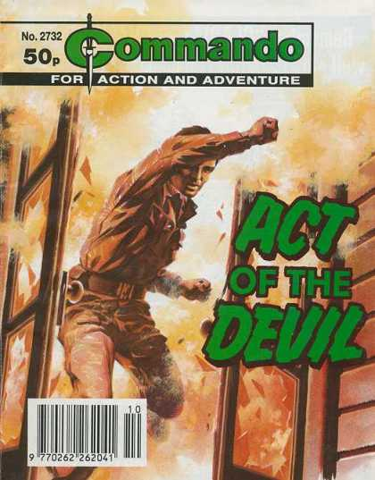 Commando 2732 - Act Of The Devil - For Action And Adventure - Knife - Burning House - No 2732