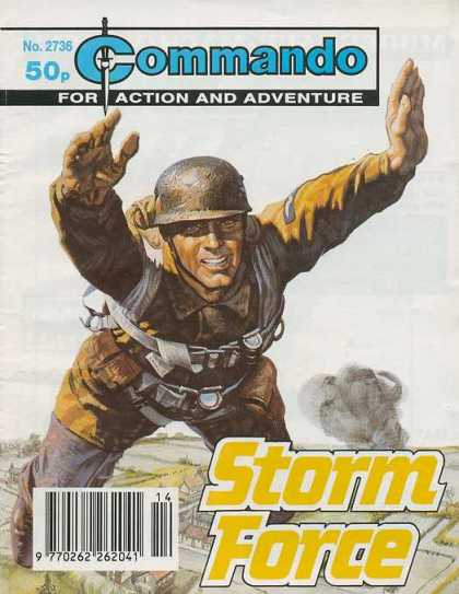 Commando 2736 - Storm Force - Military Uniform - Smoke - Metal Helmet - Parachute