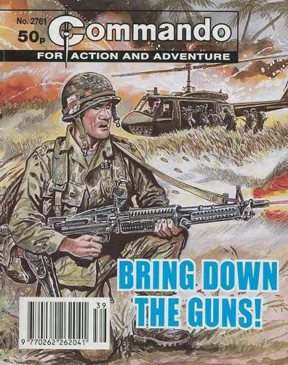Commando 2761 - Helicopter - Gun - Soldier - Bring Down The Guns - Wind