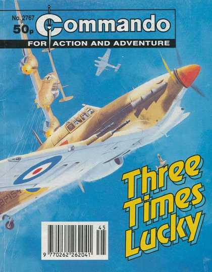 Commando 2767 - For Action And Adventure - Plane - Three Times Lucky - Target - No 2767