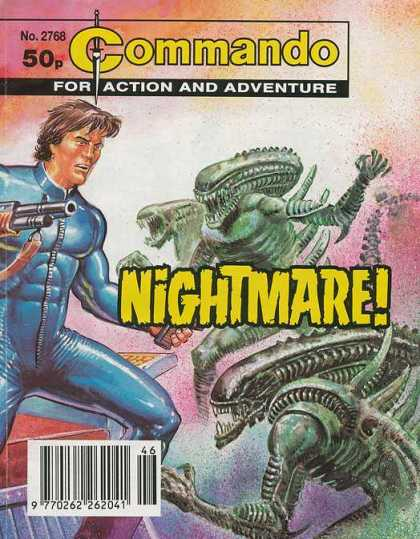 Commando 2768 - Aliens - Future - Outer Space Ambush - Outnumbered - Nightmare