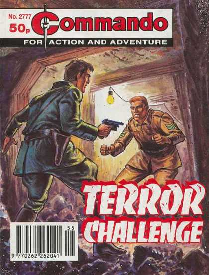 Commando 2777 - Terror Challenge - No 2777 - 50p - For Action And Adventure - Holding Gun