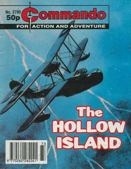 Commando 2795 - Action And Adventure - Biplane - The Hollow Island - Aviation - Lightining