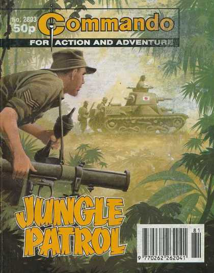 Commando 2803 - No 2803 - For Action - And Adventure - Jungle Patrol - Tank