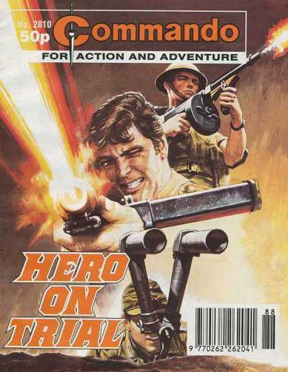Commando 2810 - Machine Gun - Hero On Trial - War - Acftion And Adventure - Muzzle Flare