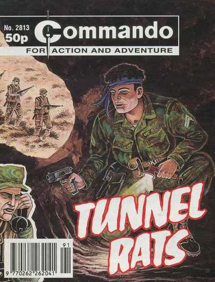 Commando 2813 - Tunnel Rats - No 2813 - Us Army - Weapons - Vietnam