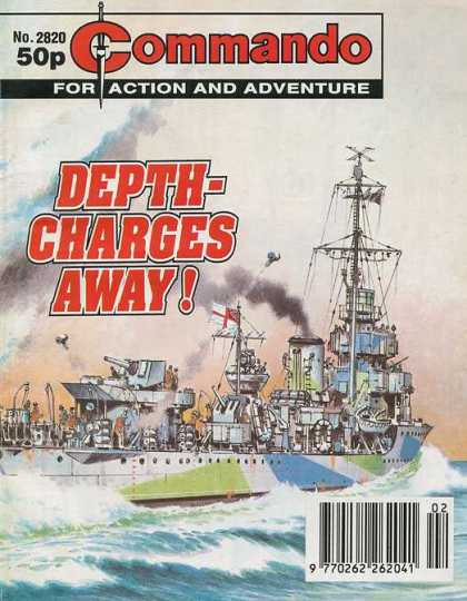 Commando 2820 - Commando - Action - Adventure - Depth Charges Away - Comic