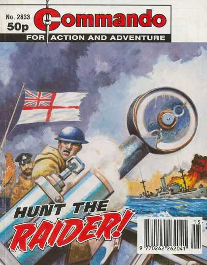Commando 2833 - Hunt The Raider - Action And Adventure - Sea - Fight - Flag