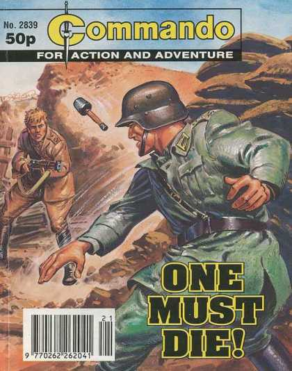 Commando 2839 - No 2839 - For Action And Adventure - One Must Die - Gernade - Military