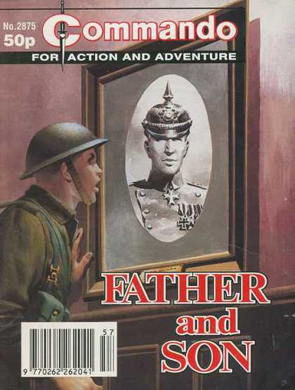 Commando 2875 - Soldier - Gi - Father And Son - Portrait - War
