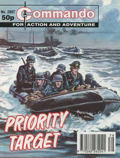 Commando 2897 - Priority Target - Water - Boats - Guns - Weapons