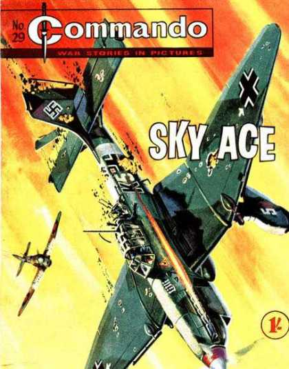 Commando 29 - Sky Ace - Fighter Planes - War Stories - Swastika - Dogfight