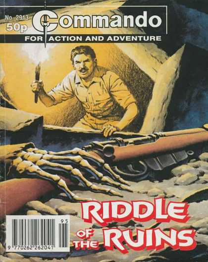 Commando 2913 - Action And Adventure - Hes Got A Flame - Skeleton Bones - Riddle - Cave