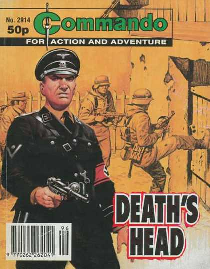 Commando 2914 - Soldier - For Action And Adventure - Deaths Head - Gun