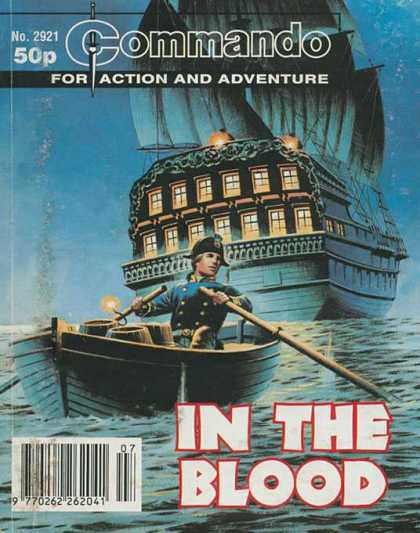 Commando 2921 - In The Blood - Ship - Boat - Action And Adventure - Sea