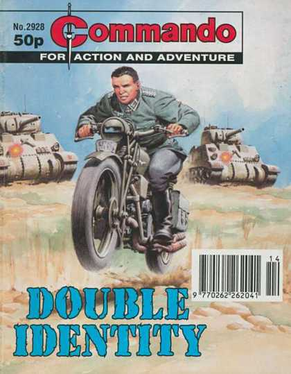 Commando 2928 - No 2928 - For Action And Adventure - Double Identity - Tanks - Motorcycle