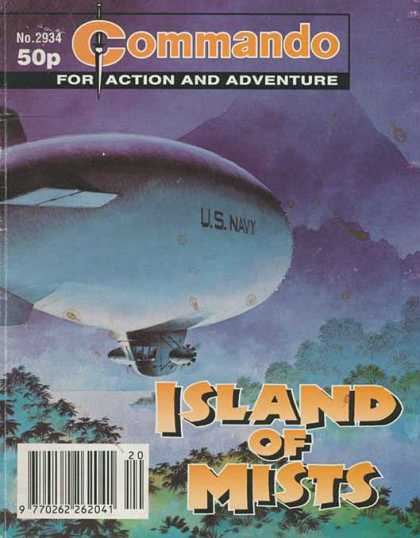 Commando 2934 - Blimp - Us Navy - Action - Adventure - Island Of Mists