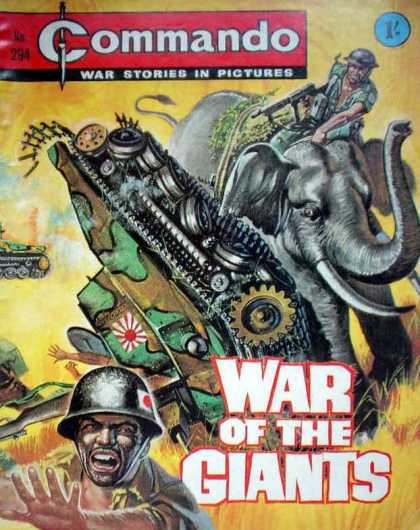 Commando 294 - Propoganda - Ww Ii - India - Japanese - Elephants