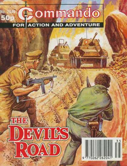 Commando 2949 - Tanks - The Devils Road - Gun - Weapon - Road