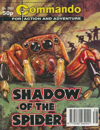 Commando 2952 - No 2952 - 50p - Shadow Of The Spider - Giant Spider - For Action And Adventure