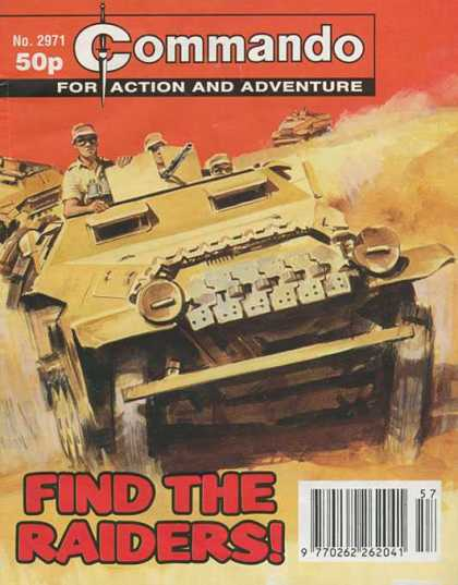 Commando 2971 - For Action And Adventure - Find The Raiders - Japanese Army - Stereotype - Armored Truck