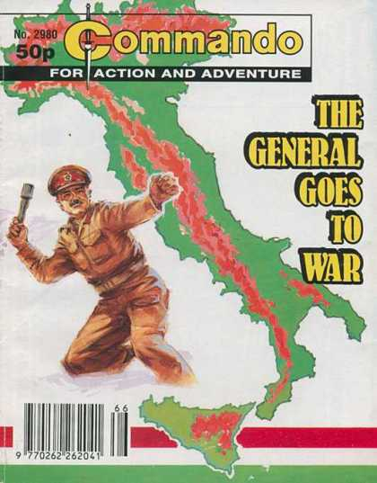 Commando 2980 - The General Goes To War - Italy - Throwing Grenade - Attack - Battle