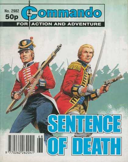 Commando 2982 - For Action And Adventure - Sentence Of Death - Soldier - Sword - Gun