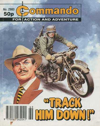 Commando 2983 - No 2983 - Action And Adventure - Track Him Down - Realistic - Bike