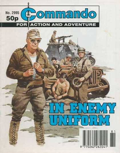 Commando 2995 - Action And Adventure - In Enemy Uniform - Jeep - Tank - Soldiers