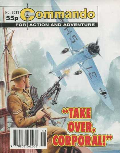 Commando 3011 - For Action And Adventure - Plane - Soldier - Ship - Machinegun