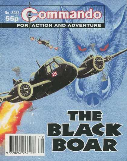Commando 3022 - The Black Boar - For Action And Adventure - Engine - Fire - Fighter Plane
