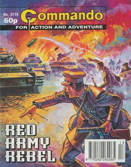 Commando 3119 - Number 3119 - For Action And Adventure - Red Army Rebel - Tanks - Soldiers