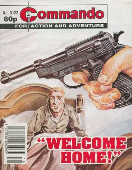 Commando 3122 - Gun - Cot - One Old Man - Hand - Frightened