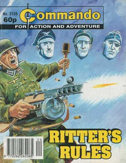 Commando 3126 - Action And Adventure - Machine Gun - Soldiers - Ritters Rules - Iron Cross