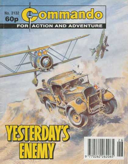 Commando 3132 - Biplane - High Speed Chase - War - Strafing - Desert Battle