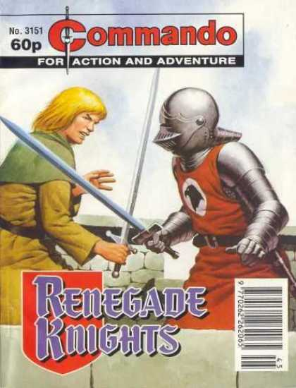 Commando 3151 - Renegade Knights - Armored Knight - Peasant Boy - Swords Crossed - Deadly Combat