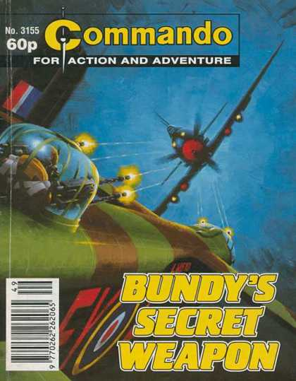 Commando 3155 - For Action And Adventure - No3155 - Elicopter - 60p - Bundys Secret Weapon
