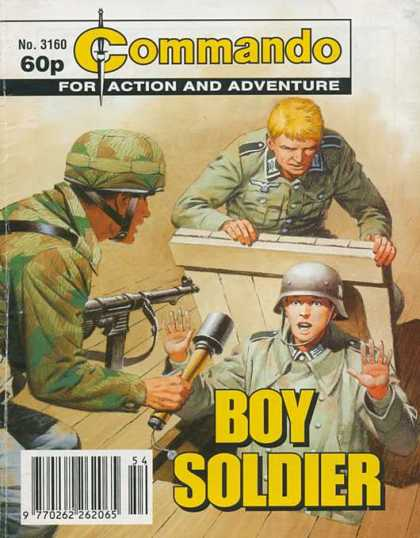 Commando 3160 - Soldiers - Boy Soldier - Gun - Trap Door - Germans